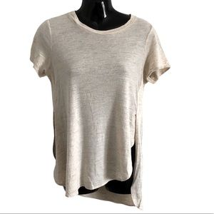 WILFRED ARTIZIA linen wool blend top asymmetrical